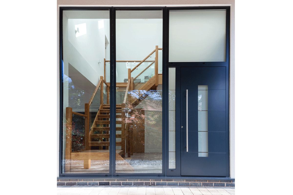 Aluminium entrance door 5